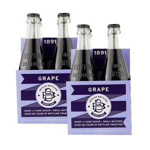 Boylan Grape Cane Sugar Soda 2 Pack (4x355ml per Pack)