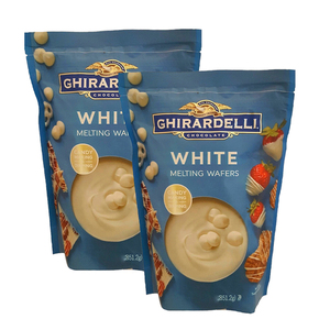 Ghirardelli White Chocolate Melting Wafers 2 Pack (850g per pack)
