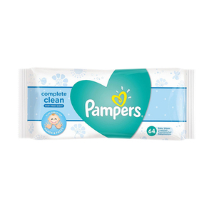 Pampers Complete Clean Baby Fresh Scent Baby Wipes 64ct