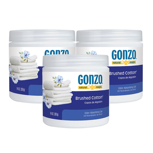 Gonzo Natural Magic Brushed Cotton Odor Gel 3 Pack (397g per pack)