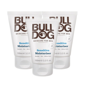 Bulldog Sensitive Moisturiser 3 Pack (100ml per Tube)