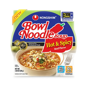Nongshim Hot & Spicy Beef Bowl Noodle Soup 86g