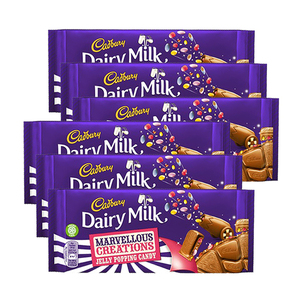 Cadbury Dairy Milk Marvellous Creations Jelly Popping Candy 6 Pack (165g per Bar)