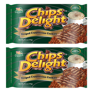 Chips Delight Stripped Cappuccino Cookie 2 Pack (175g per Pack)