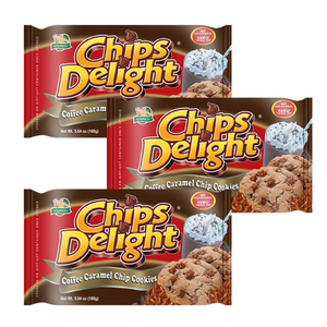 Chips Delight Coffee Caramel Chip Cookie 3 Pack (160g per Pack)