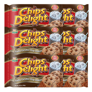 Chips Delight Coffee Caramel Chip Cookie 6 Pack (160g per Pack)