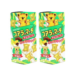 Lotte Koala's March Chocolate Creme Filled Cookies 2 Pack (195g per pack)