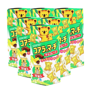 Lotte Koala's March Chocolate Creme Filled Cookies 6 Pack (195g per pack)