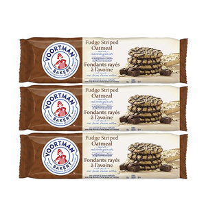 Voortman Fudge Striped Oatmeal 3 Pack (350g per pack)