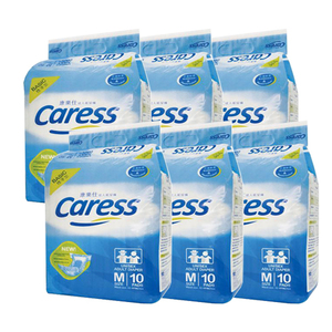 Caress Basic Unisex Adult Diaper Medium 6 Pack (10's per Pack)