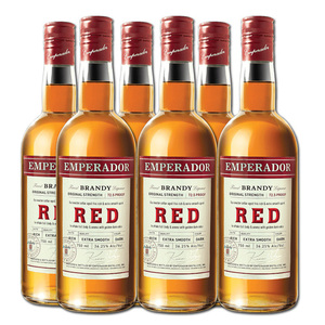 Emperador Red Brandy 6 Pack (750ml per bottle)