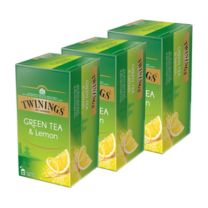 Twinings Green Tea & Lemon 3 Pack (25's per Box)
