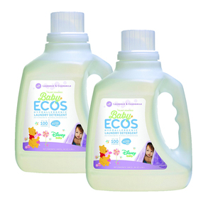 Baby Ecos Lavender & Chamomile Laundry Detergent 2 Pack (2.96L per pack)