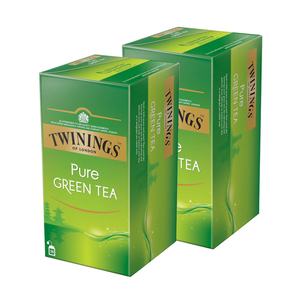 Twinings Pure Green Tea 2 Pack (25's per Box)