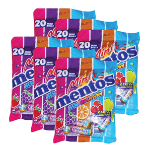 Mentos Mini Rolls New Rainbow 6 Pack (20's per pack)