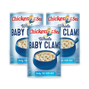 Chicken of the Sea Whole Baby Clams 3 Pack (283g per Can)