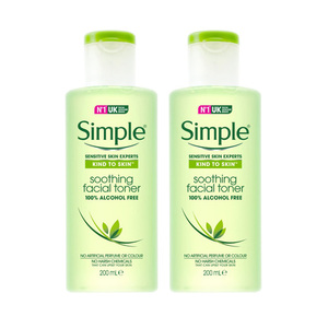 Simple Kind to Skin Soothing Facial Toner 2 Pack (200ml per Bottle)