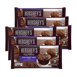 Hershey's Kitchens Semi-Sweet Mini Chocolate Chips 6 Pack (340g per pack)