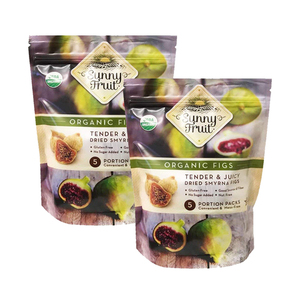 Sunny Fruit Organic Figs 2 Pack (400g per pack)