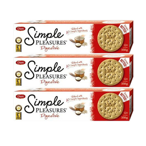 Dare Simple Pleasure Digestive Cookies 3 Pack (350g per pack)