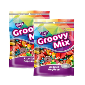 Huer Groovy Mix Gummies 2 Pack (300g per pack)