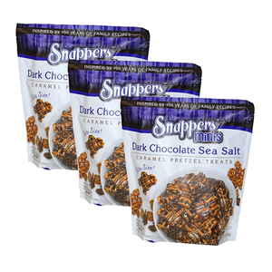 Snappers Dark Chocolate Sea Salt Minis Bite Size 3 Pack (680g per pack)