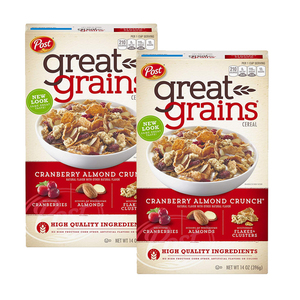 Post Great Grains Cranberry Almond Crunch 2 Pack (396g per pack)
