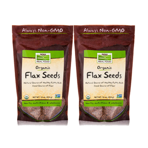 Now Foods Organic Flax Seeds 2 Pack (454g per pack)