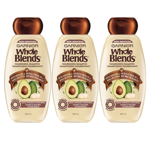Garnier Whole Blend Nourishing Shampoo 3 Pack (650ml per pack)