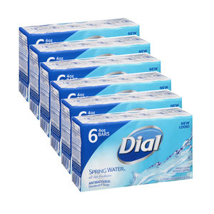 Dial Spring Water Bar Soap 6 Pack (6's per pack)