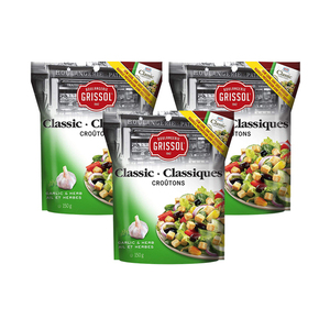 Grissol Classic Croutons Garlic and Herb 3 Pack (150g per pack)