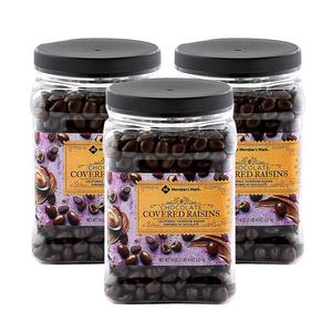 Member's Mark Chocolate Raisins 3 Pack (1.53kg per pack)