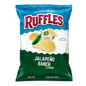 Ruffles Jalapeno Ranch Flavored Potato Chips 184g