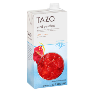 Tazo Iced Passion Concentrate Herbal Tea 946ml
