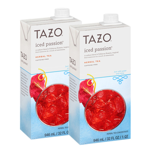 Tazo Iced Passion Concentrate Herbal Tea 2 Pack (946ml per Pack)