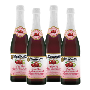Martinelli's Sparkling Apple-Pomegranate Juice 4 Pack (750ml per Bottle)