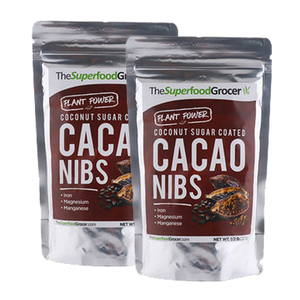 The Superfood Grocer Coconut Sugar Coated Cacao Nibs 2 Pack (227g per Pack)