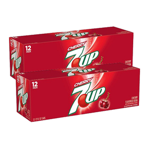 7-UP Cherry Flavored Soda 2 Pack (12x340g per Box)