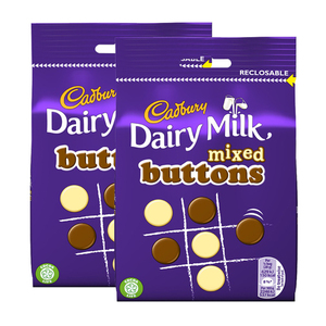 Cadbury Dairy Milk Mixed Buttons Chocolate 2 Pack (115g per Pack)