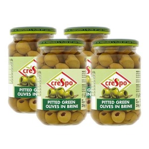 Crespo Pitted Green Olives 4 Pack (907g per Jar)