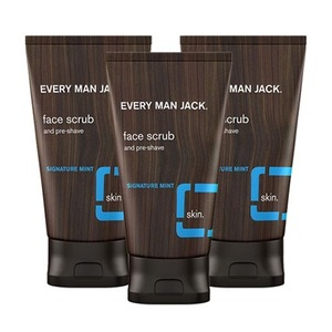 Every Man Jack Signature Mint Face Scrub 3 Pack (150ml per Tube)
