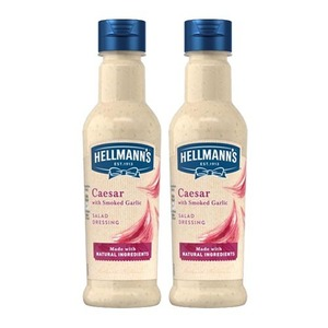 Hellmann's Caesar with Smoked Garlic Salad Dressing 2 Pack (210ml per Bottle)