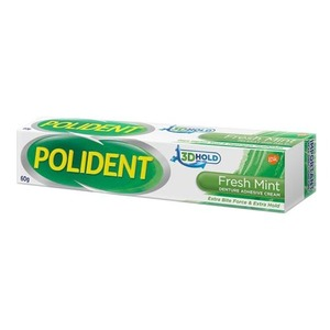 Polident Fresh Mint Denture Adhesive Cream 60g