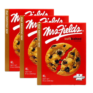 Mrs. Fields Milk Chocolate Chip Cookies 3 Pack (226.8g per Box)