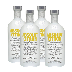 Absolut Citron Vodka 4 Pack (700ml per Bottle)