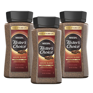 Nescafe Taster's Choice House Blend Instant Coffee 3 Pack (397g per Bottle)