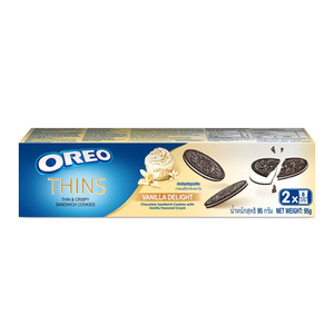 Oreo Thins Vanilla Delight Sandwich Cookies 2 Pack (95g per Box)