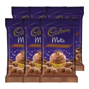 Cadbury Real Milk Chocolate Melts 6 Pack (225g per Pack)