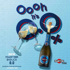 Martini - Dolce 0.0 (Alcohol Free) Italian Sparkling Wine 2 Pack (750ml per Bottle)