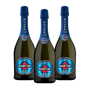 Martini - Dolce 0.0 (Alcohol Free) Italian Sparkling Wine 3 Pack (750ml per Bottle)